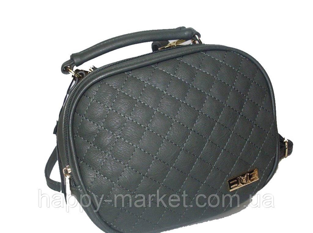 Женский клатч Chanel Серый  1001-7