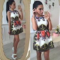 Невероятно красивое летнее платье с цветочным принтом