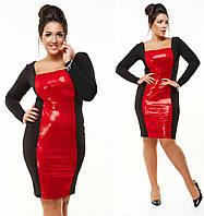 Трикотажное потрясающее женское стильное платье с паетками