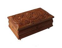 Шкатулка сувенірна дерев'яна ручної роботи 19*11*7 см, фото 1