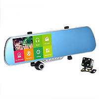 Зеркало регистратор Phisung MX 2, GPS навигация,  Андроид 5.0, задняя  камера, экран 5 дюймов