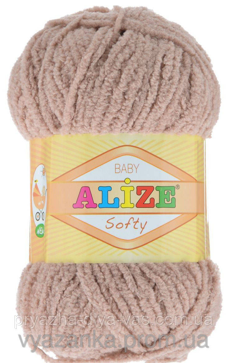 Детская пряжа(100%-микрополиэстер,50г/115м) Alize Baby Softy 310(медовый)