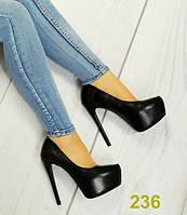 Женские туфли на платформе черные, р.40