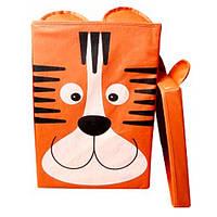 """Ящик для игрушек с крышкой HTKK-2525-003 """"Тигр"""", 25*25*38"""