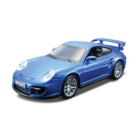 Сборная модель «Bburago» (18-45125) Porsche 911 GT2, 1:32 (голубой), фото 2