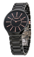Часы женские наручные Rado Thinline Ceramic Black-Gold SM-2028-0014 AAA copy SK