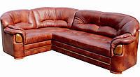 """Раскладной кожаный угловой диван """"Статус"""". (285*205 см)"""