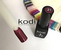 Гель лак kodi professional № 21 (глубокий бордо с микроблеском ) 8 мл., фото 1