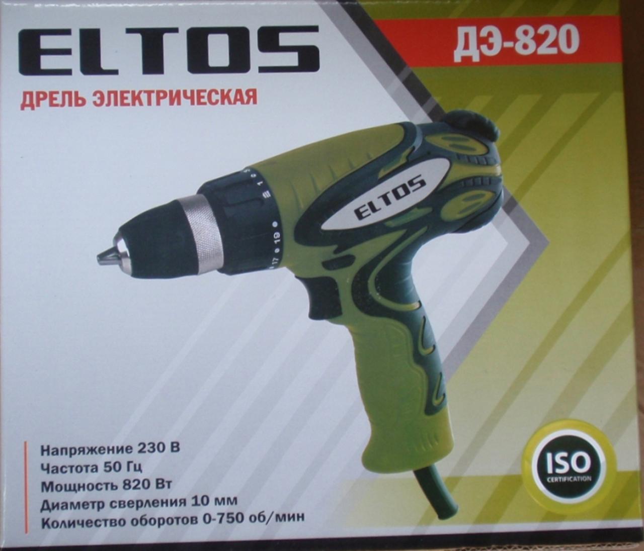 Шуруповерт сетевой Eltos ДЕ-820