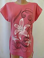Летние футболки однотонные для молодежи., фото 1