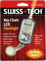 Брелок с фонариком и открывашкой  Swiss+Tech ST33340ES серый
