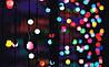 Разноцветная Гирлянда Шарики Штора - штора на черном проводе 3 x 1 м 100 led мультиколор, занавес Плей Лайт