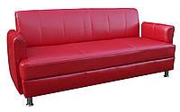"""Прямой кожаный диван """"Топаз"""". (190 см)"""
