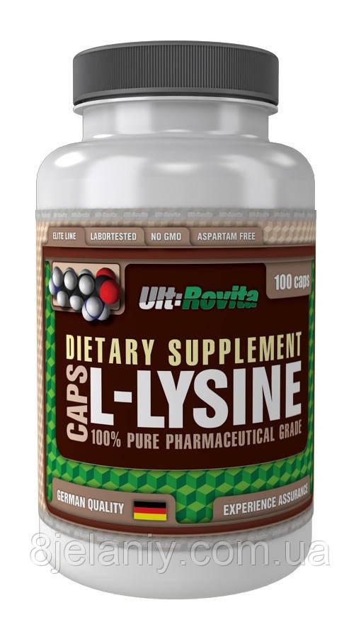Противовирусный препарат L-Lysine 1000 mg Ult:Rovita 100 caps