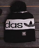 Зимняя мужская шапка адидас очень теплая