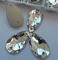 Стразы пришивные Копия Сваровски, Капля 11х18 мм Crystal, стекло