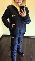 """Подростковый зимний костюм """" The North Face """" 4025 / черный, фото 1"""