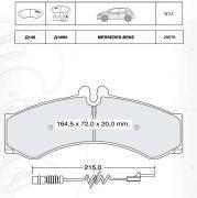 INTELLI  D146EI Тормозные колодки  дисковые, к-кт.  Для автомобилей:MERCEDES-BENZ, VW