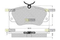 STARLINE BD S121  D501E Тормозные колодки  дисковые, к-кт.  Для автомобилей:OPEL,VAUXHALL,