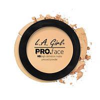 L.A.Girl GPP 604 Pro Face Pressed Powder Creamy Natural - Матовая пудра для лица, 7 г