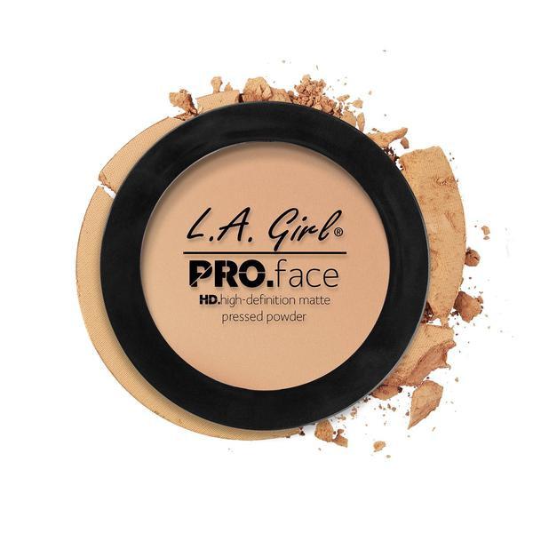 L.A.Girl GPP 605 Pro Face Pressed Powder Nude Beige - Матовая пудра для лица, 7 г