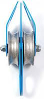 Блок-ролик «Промальп Увеличенный» двойной D63/54мм стальной 50кН Крок 02261