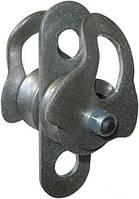 Блок-ролик Спасатель двойной D35/27мм сталь 50кН Крок 02111