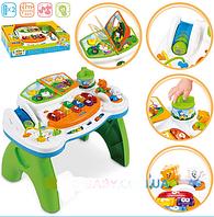 Детский игровой развивающий столик многофункциональный Музыкальная книжка Weina 2134