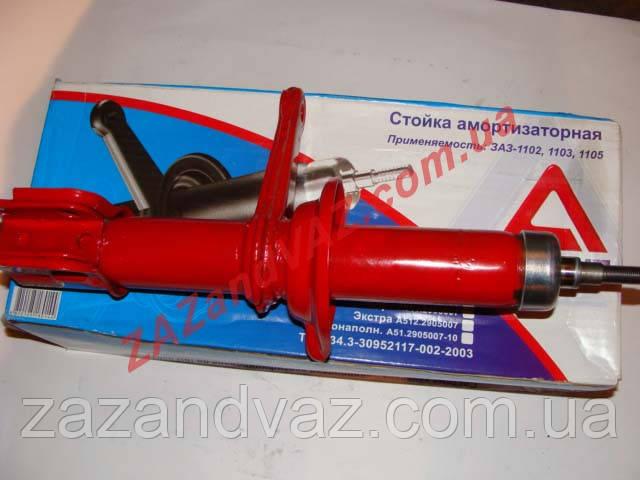 Амортизатор передний правый Таврия, Славута АГАТ СПОРТ усиленный красный 1102-2905006