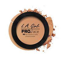 L.A.Girl GPP 607 Pro Face Pressed Powder Warm Honey - Матовая пудра для лица, 7 г