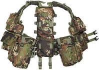 Жилет тактический с 12 карманами, камуфляж MFH 30993L