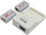 Зарядное устройство для аккумуляторов типа «Крона» + 2 аккумулятора Soshine 650 mAh