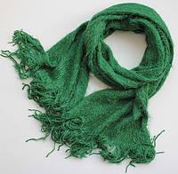 Красивый женский пушистый шарф 190х45 dress V2442_зелен