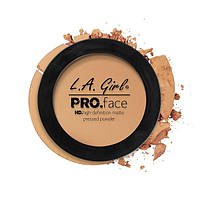 L.A.Girl GPP 609 Pro Face Pressed Powder Medium Beige - Матовая пудра для лица, 7 г
