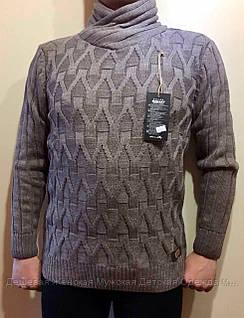 Мужской серый свитер оптом