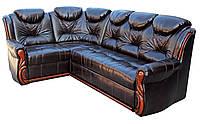 """Раскладной кожаный угловой диван """"Шах"""". (270*185 см)"""