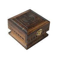 Шкатулка сувенірна дерев'яна ручної роботи, фото 1