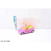 Кукла маленькая с машинкой, в пакете 17,5*8,5*6,5см 012A