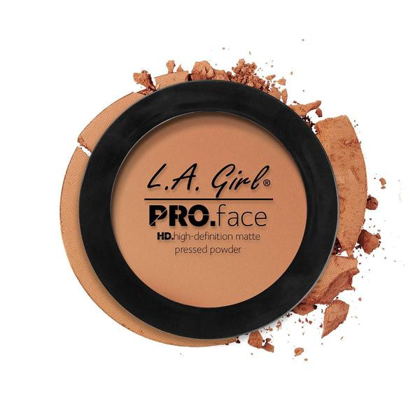 L.A.Girl GPP 612 Pro Face Pressed Powder Warm Caramel - Матовая пудра для лица, 7 г