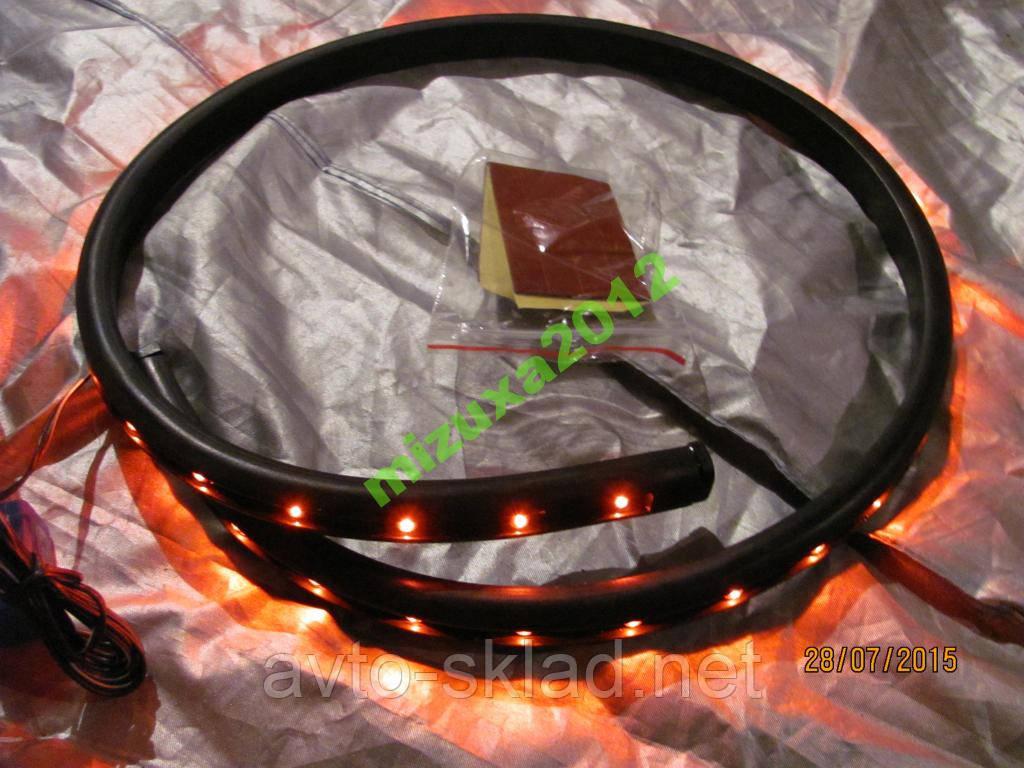 Підсвічування гнучка 36 діодів LED 60см красн/рез/осн