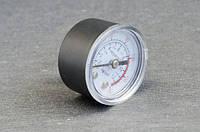 Манометр для компрессора малый резьба на 10мм (пластмассовый)