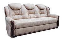 """Прямой кожаный раскладной диван """"Шах"""". (235 см)"""