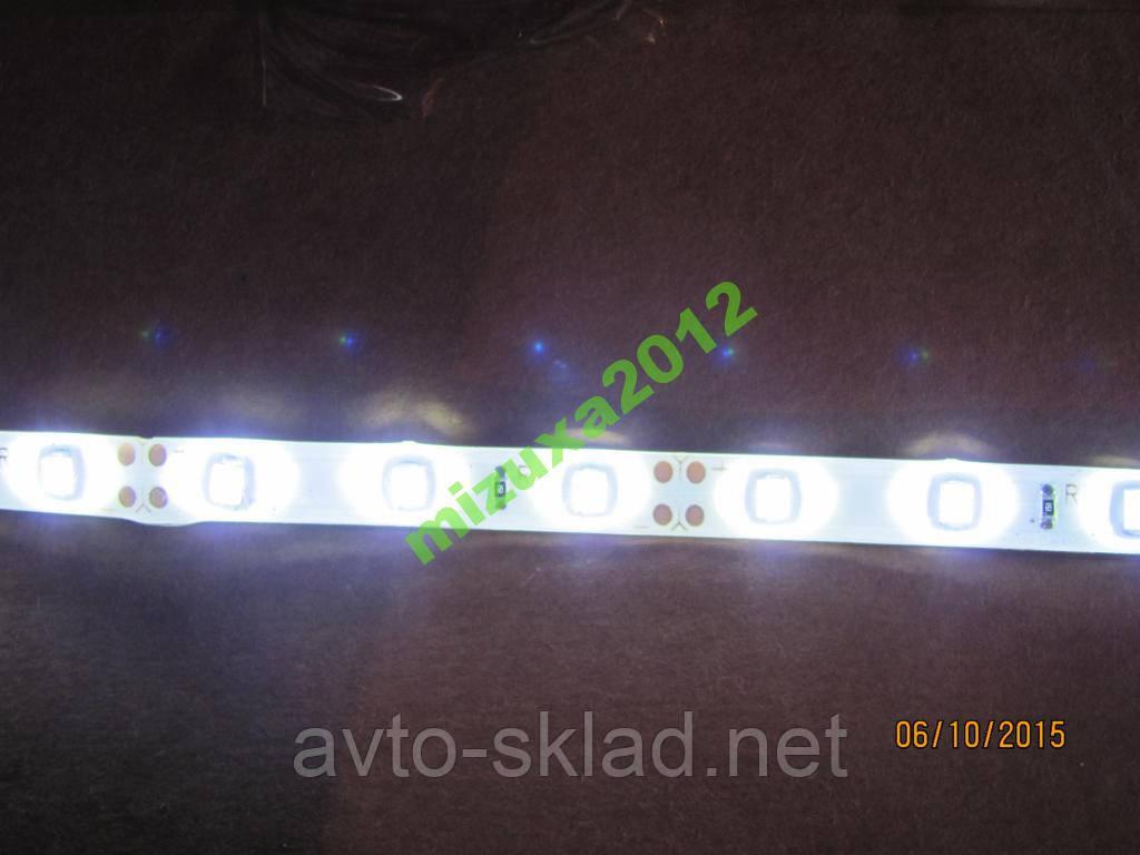 Стрічка діодна по метрам, колір білий SMD 3528