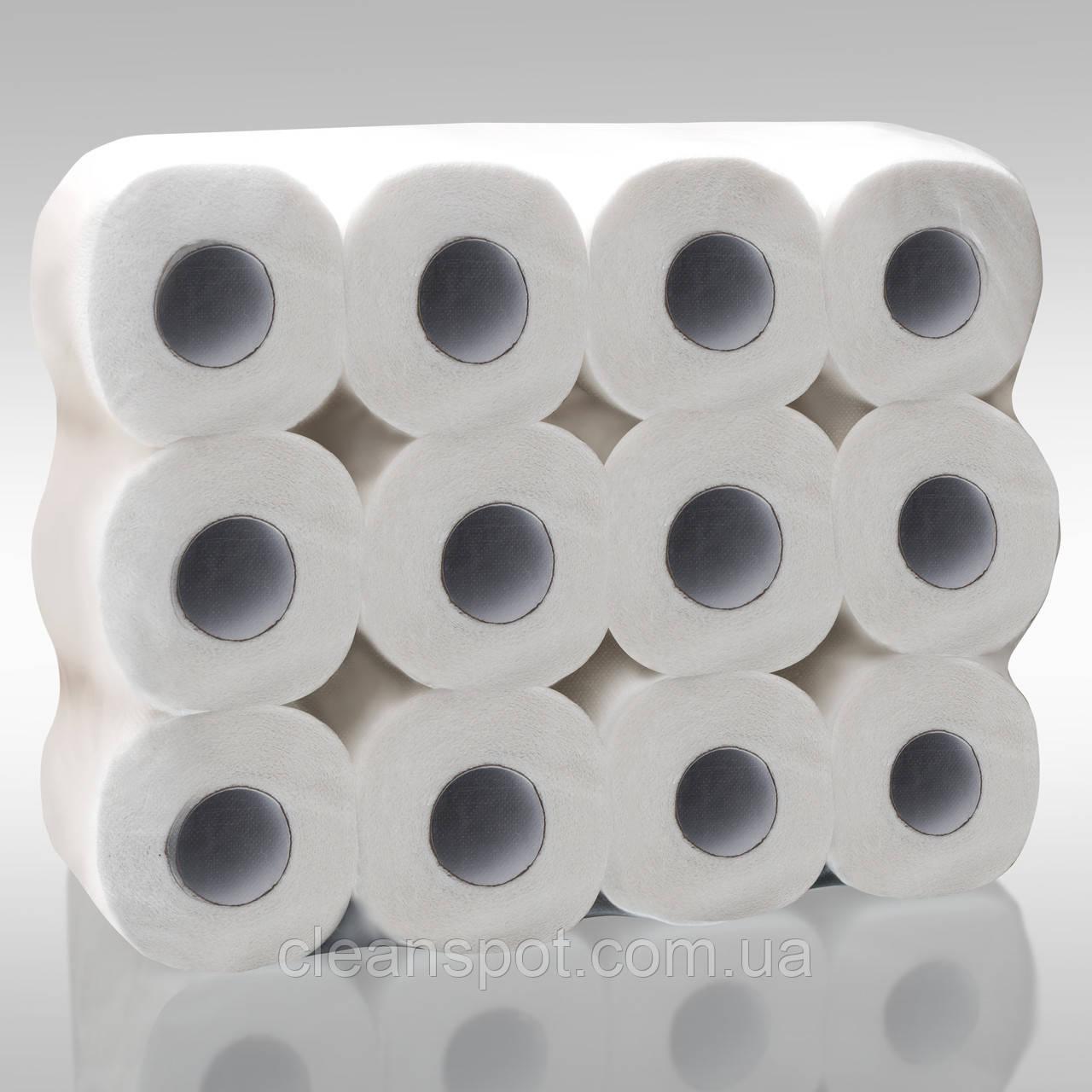 Туалетная бумага 16м натурал 2слойная мягкая с ламинацией Eco Point 24рул/уп