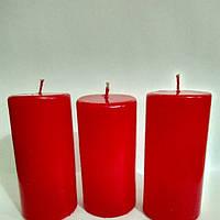 Свеча цилиндр h - 9см красная