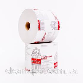 Туалетний папір макулатурний сіра Mirus Економ на гільзі 45 метрів