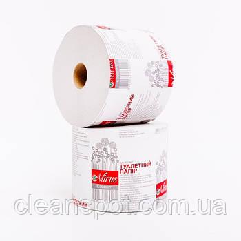 Туалетная бумага макулат серая Mirus Эконом на гильзе 24 рулона/уп