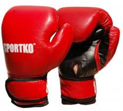 Перчатки бокс Sportko  6 унц. красные арт. ПД2