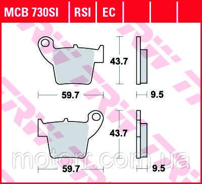Тормозные колодки TRW / LUCAS MCB730SI