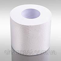 Туалетная бумага белая бытовой рулон 8 шт Mirus Econom 2-х слойная целлюлоза, фото 3